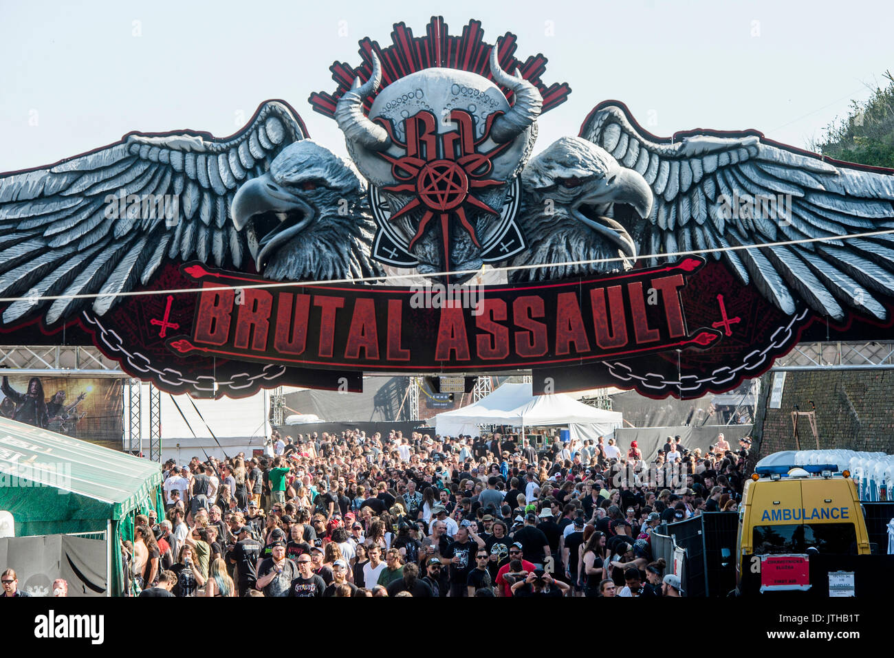 Josefov, Czech Republic  09th Aug, 2017  Heavy Metal festival Brutal