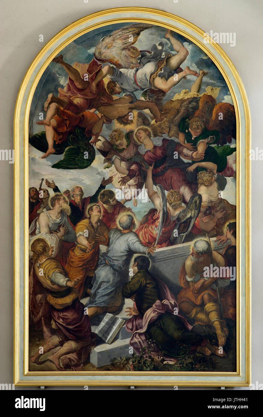 Bamberg Obere Pfarre Tintoretto BW 1 - Stock Image
