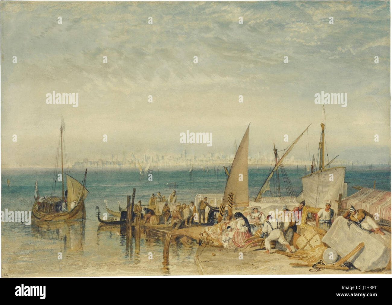 J.M.W. Turner   Venice from Fusina (1821) Stock Photo