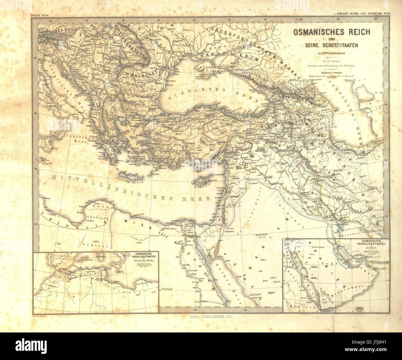 Got Karte.Spruner Menke Handatlas 1880 Karte 90 Stock Photo 152830301 Alamy