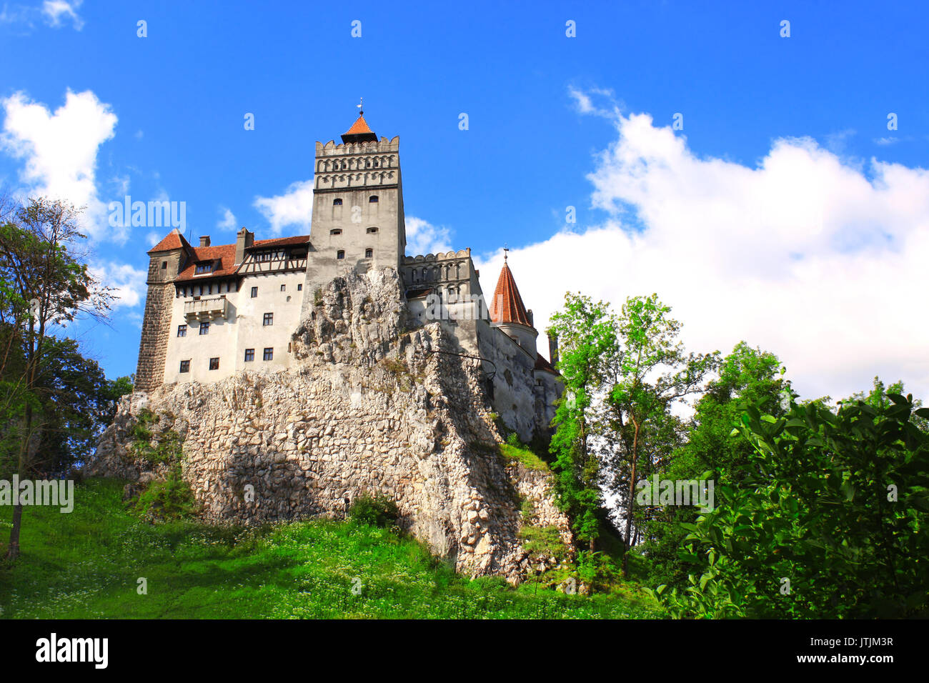 Medieval Castle of Bran (known as the Dracula's castle), Brasov, Transylvania, Romania - Stock Image