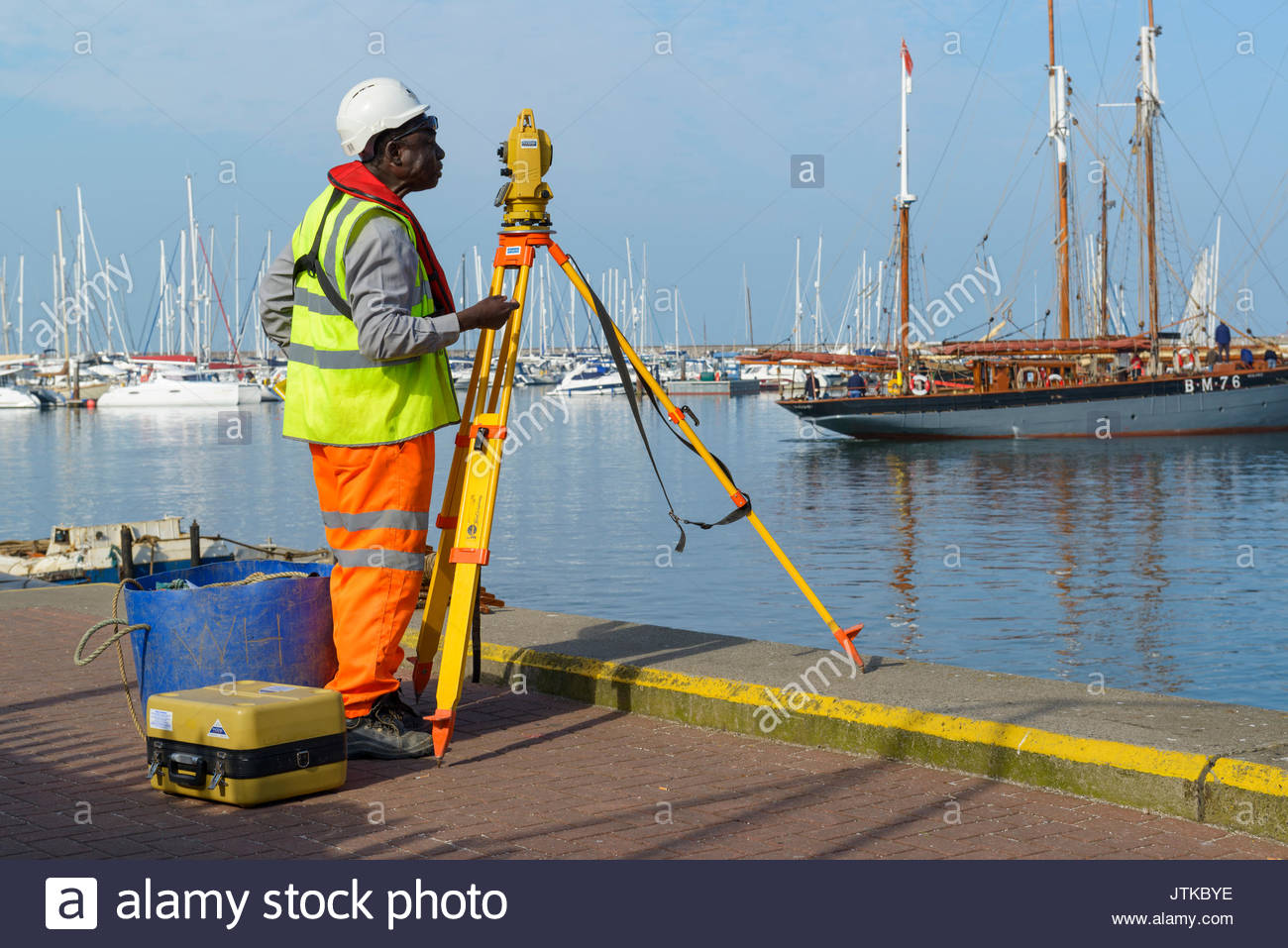 Surveyor, Brixham, Devon, England UK Europe - Stock Image
