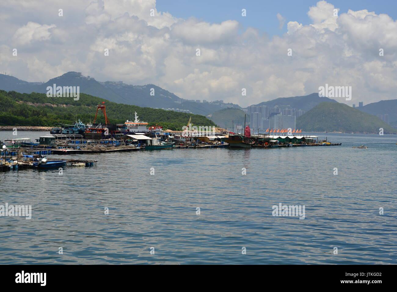 China, Hong Kong, Lamma Island, Sok Kwu Wan - Stock Image