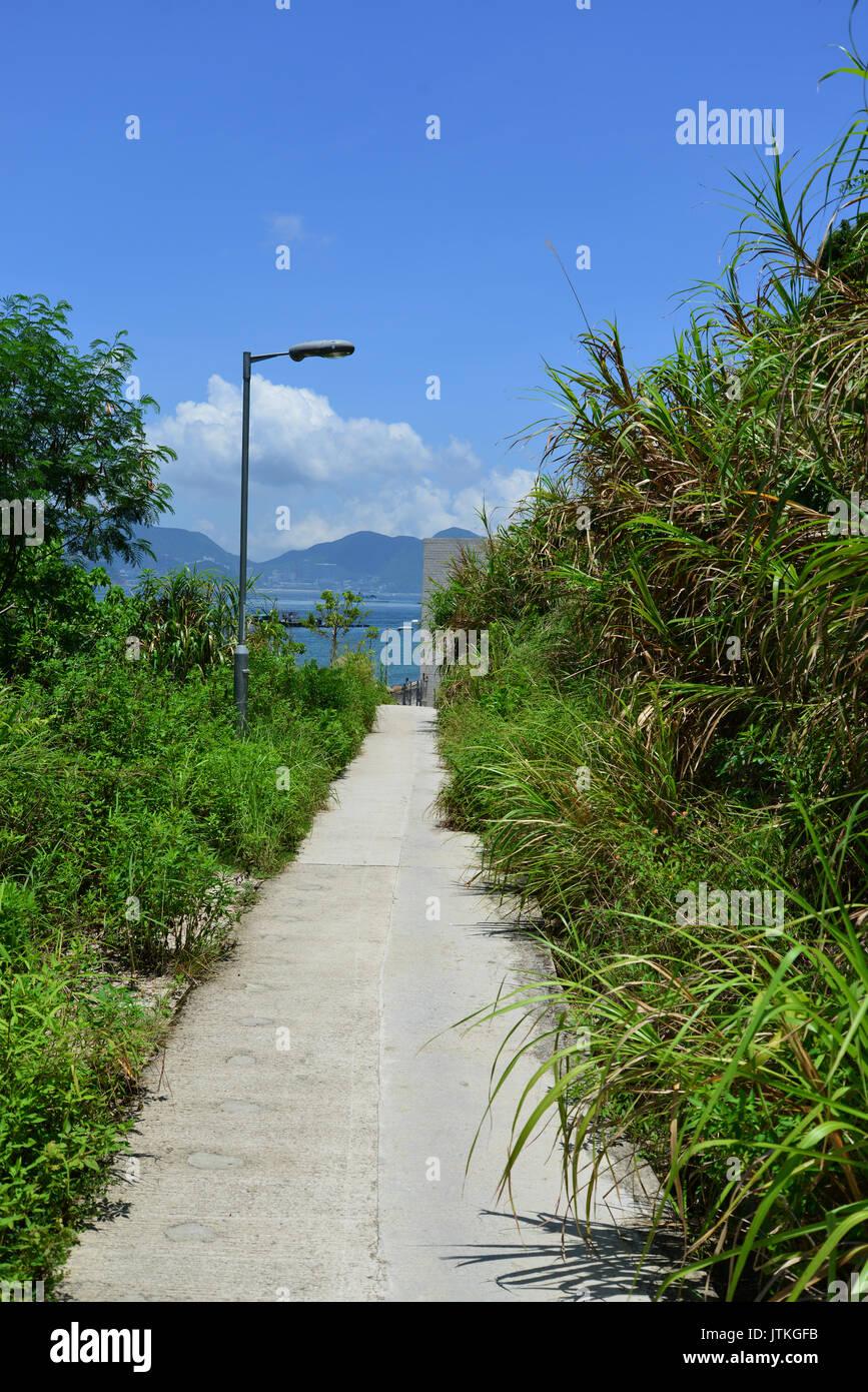 China, Hong Kong, Lamma Island, Sok Kwu Wan, Trail to Mo Tat Wan - Stock Image