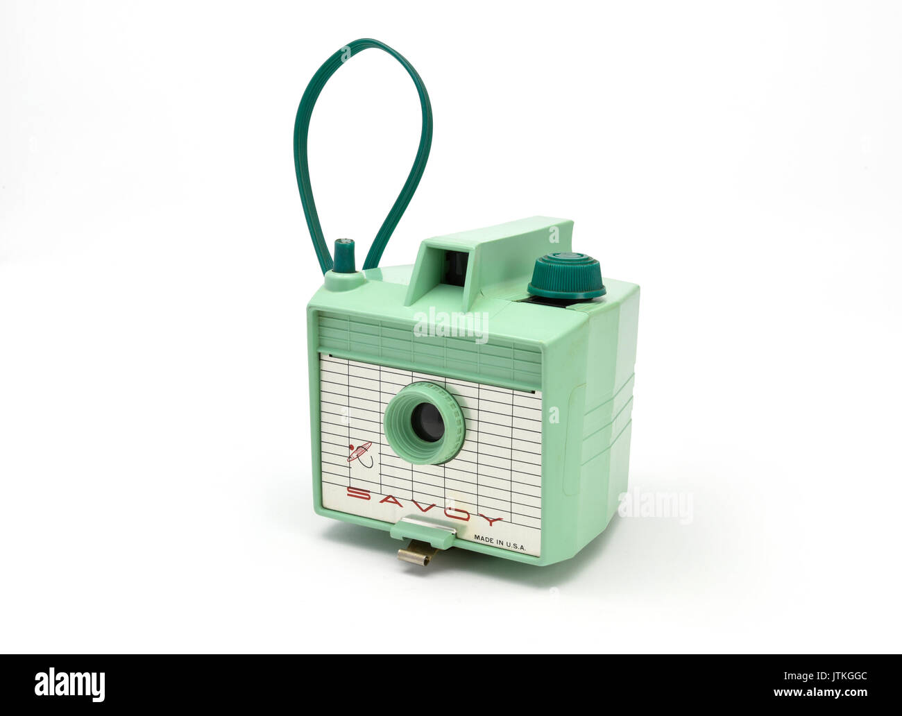 Vintage Green Savoy plastic Film Camera from the 1960's - Stock Image