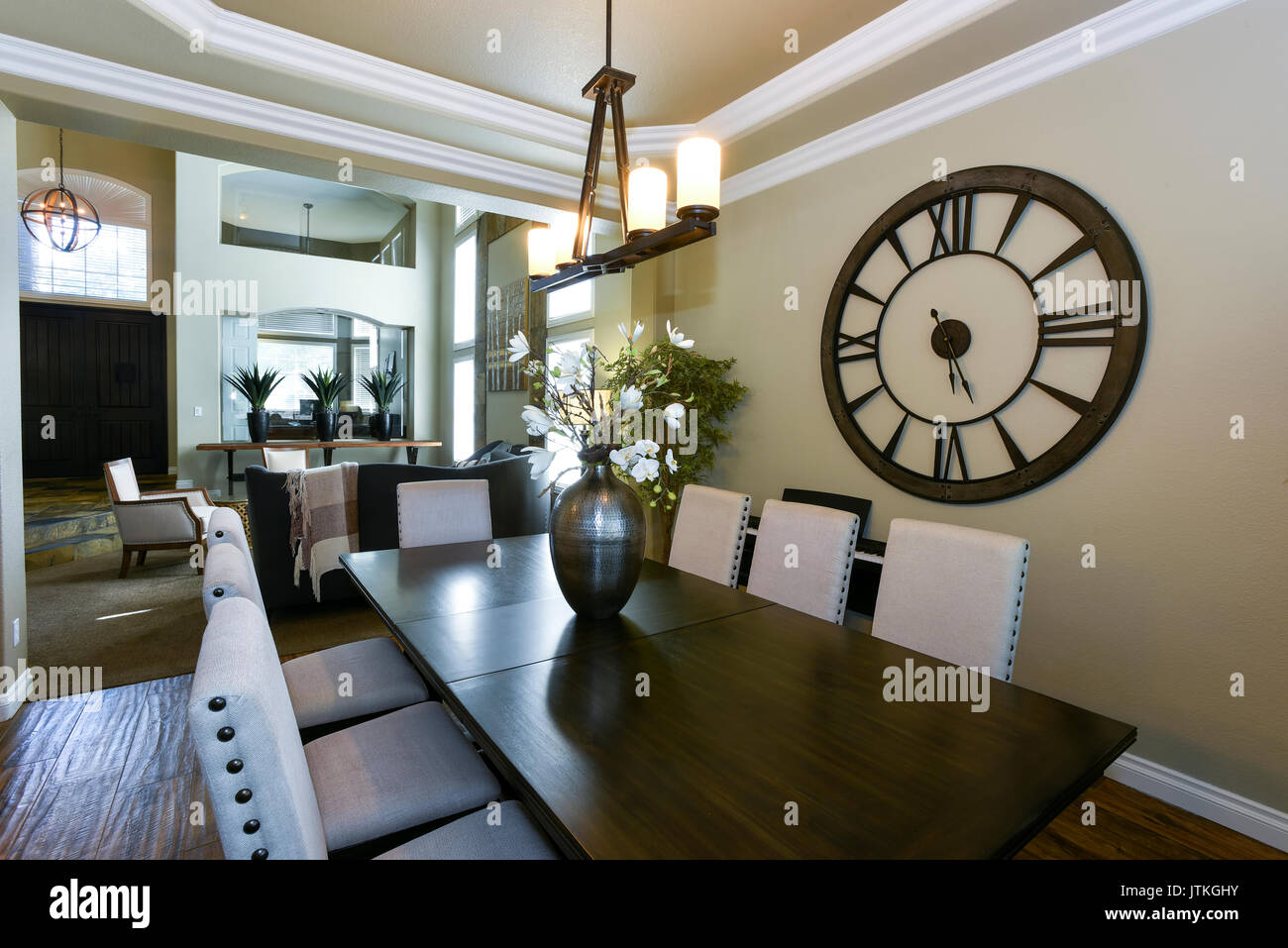 Residential Dining Room Home Interior - Stock Image