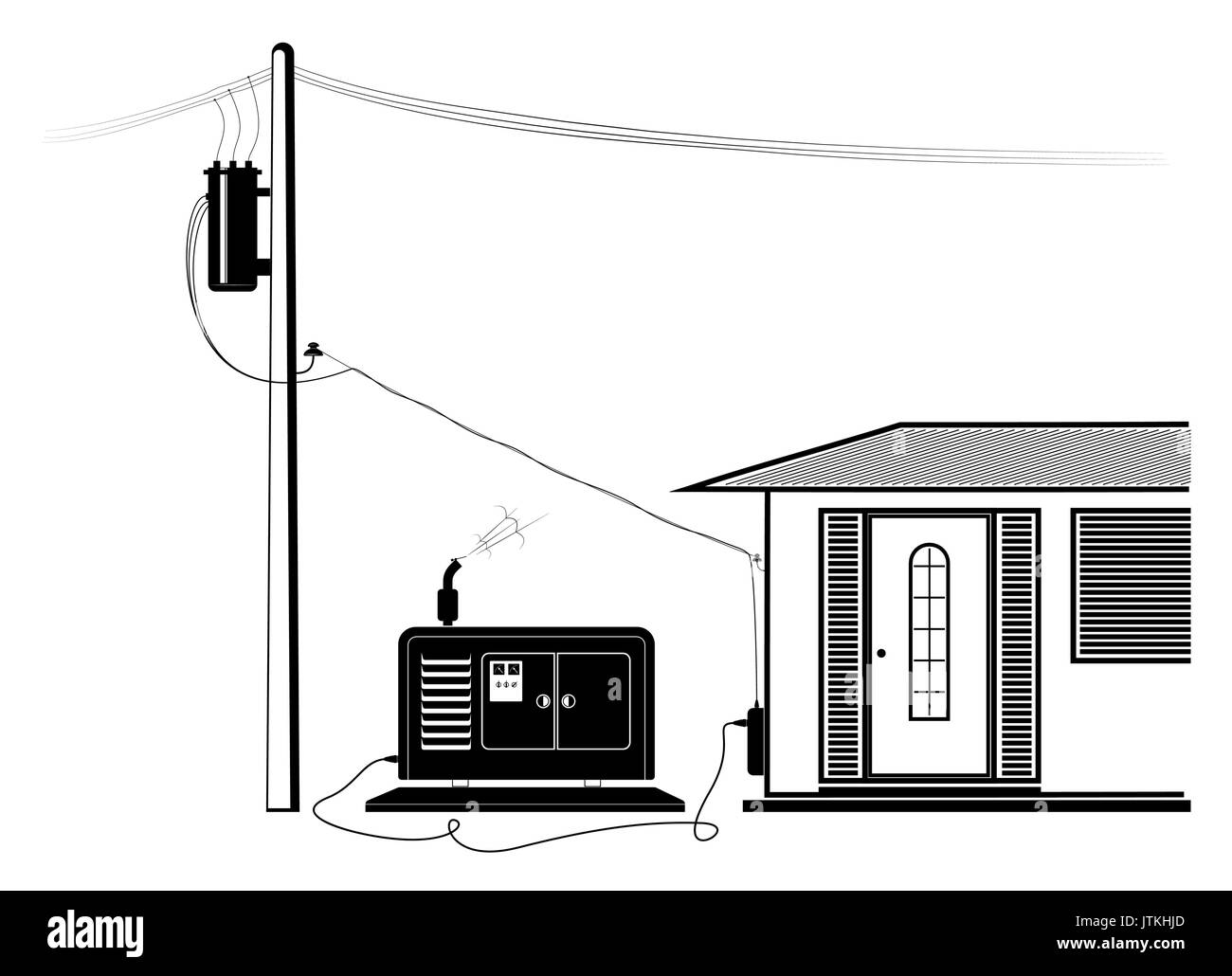 Emergency supply of the house with electricity from an autonomous ...