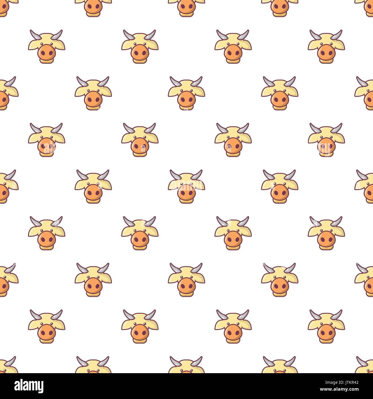 cow head pattern seamless stock vector art illustration vector