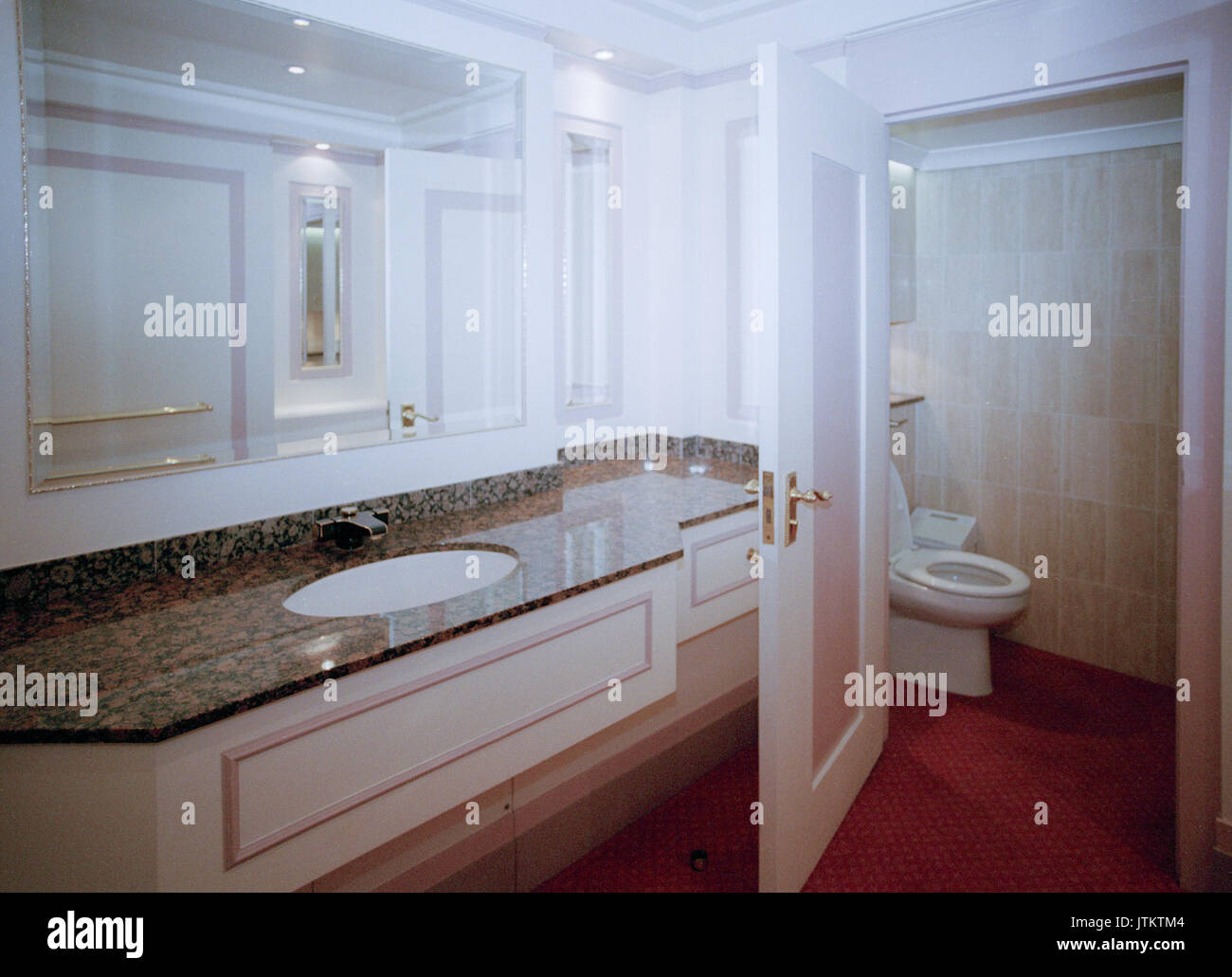 Rare Stock Photos Of The Interior Royal Bathrooms Toilet Inside Old Wembley Stadium Twin Towers Taken On A Private Tour 19th March 1999