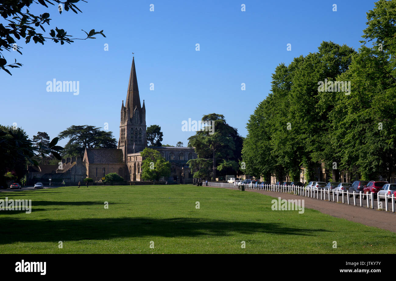 St Mary the Virgin parish church on Wood green,Witney,Oxfordshire,England - Stock Image