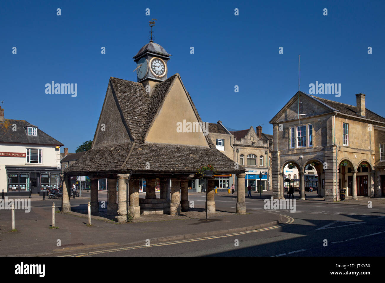 Buttercross,market Square,Witney,Oxfordshire,England - Stock Image