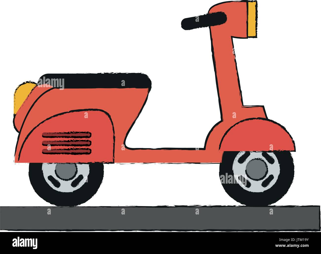 scooter vector illustration - Stock Vector