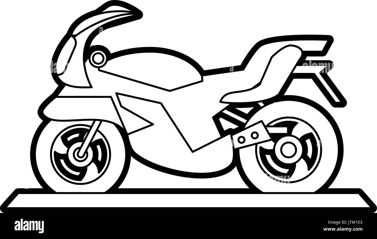 motorcycle vector illustration - Stock Vector