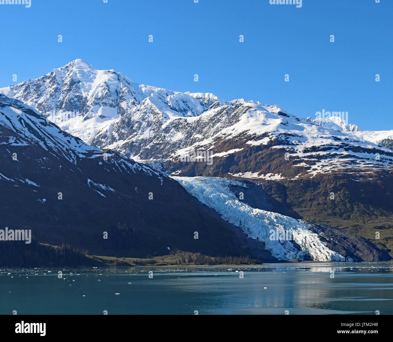 Portage Lake and Valley, Alaska - Stock Image