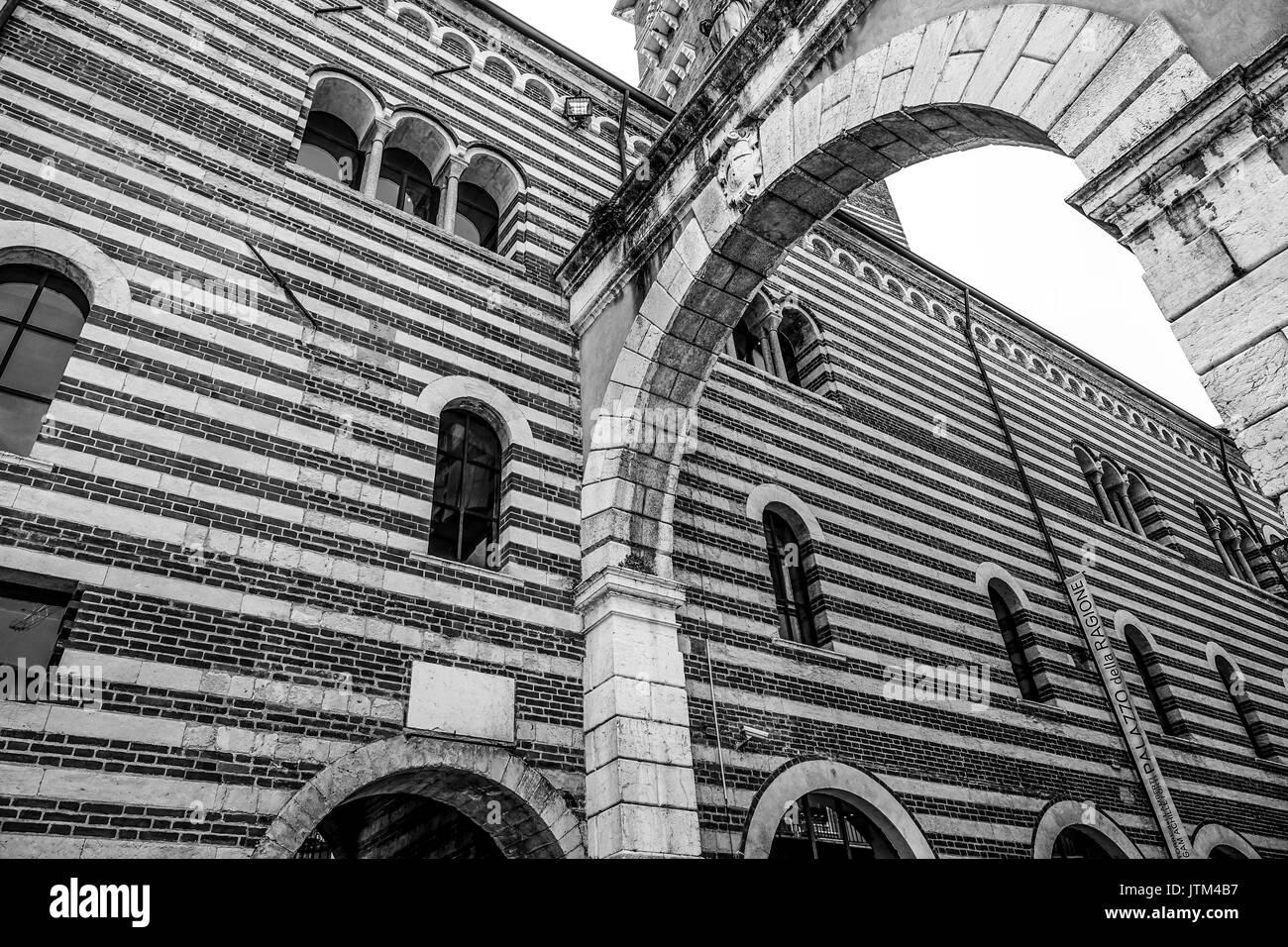 Palazzo del Mercato Vecchio in Verona Italy - Stock Image