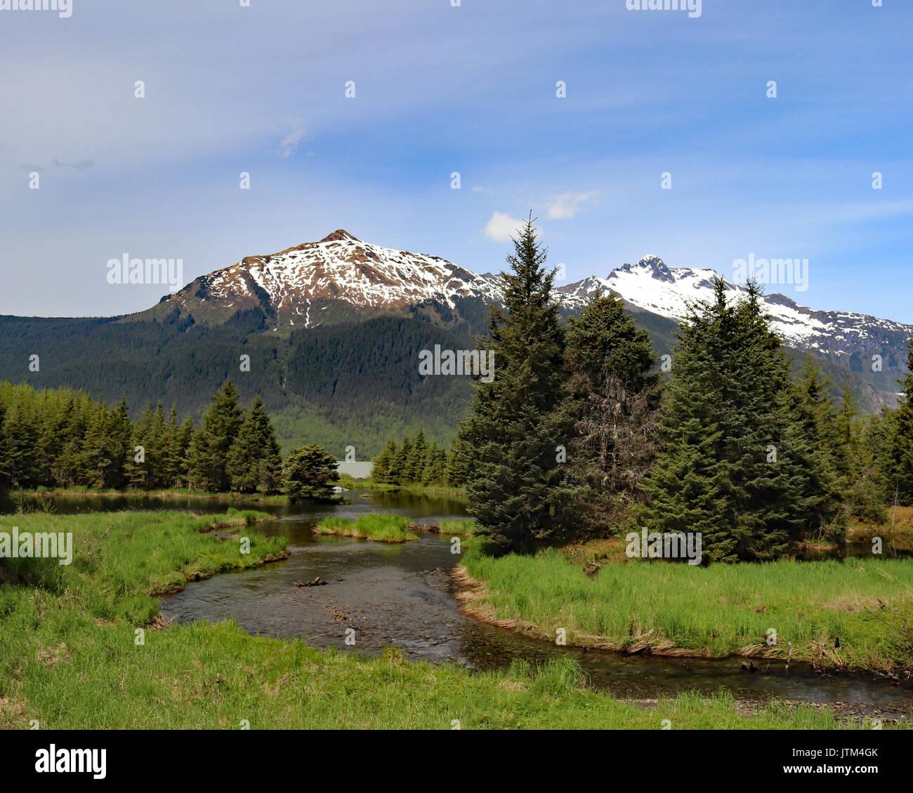 Mendenhall Valley, Juneau Alaska - Stock Image