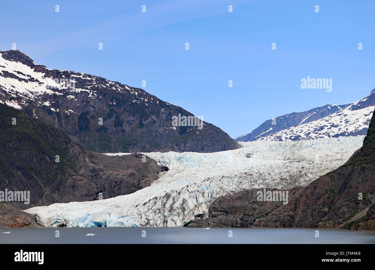 Mendenhall Glacier Juneau Alaska - Stock Image