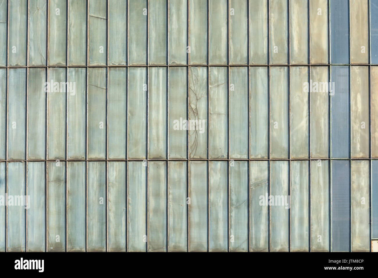 Silver-colored metal wall corrugated sheet metal background Stock ...