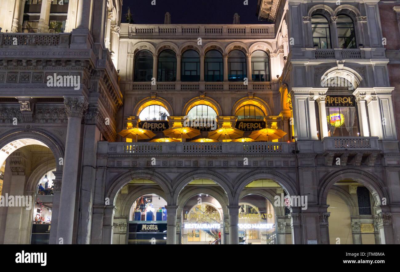 Galleria Vittorio Emanuele By Night Stock Photos Galleria