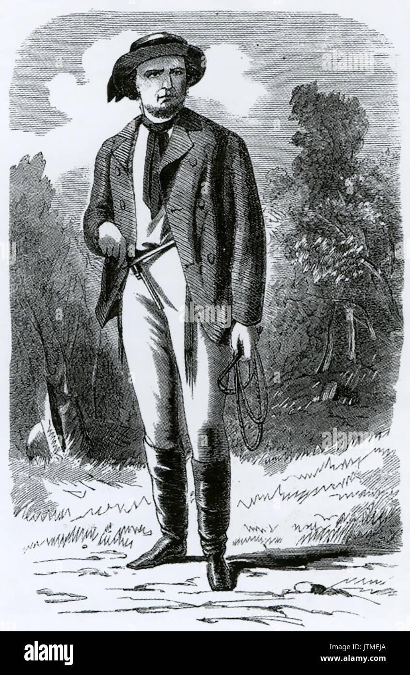FRANCIS CHRISTIE (aka Frank Gardiner) 1830-c 1903) Australian bushranger - Stock Image