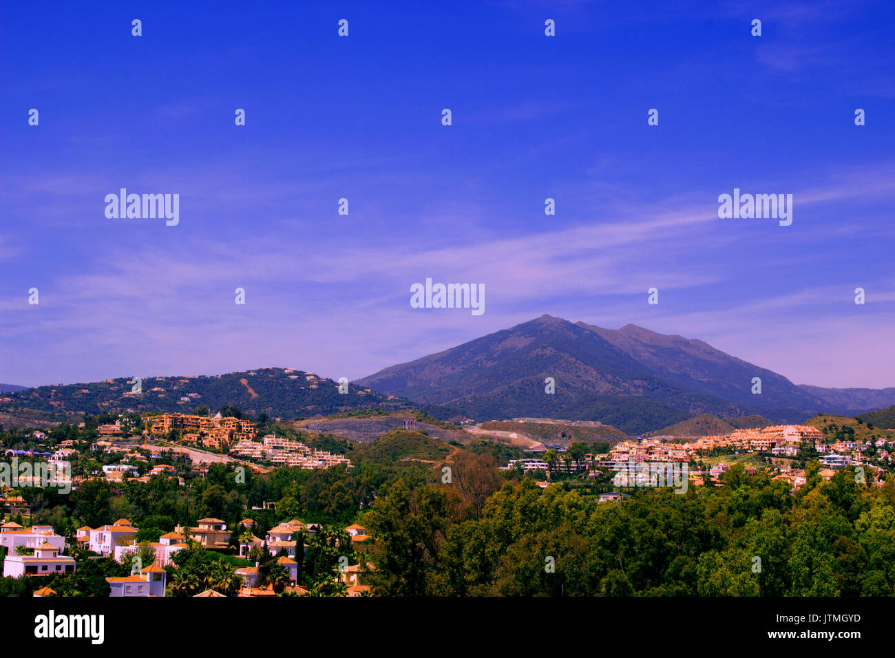 Mountain. Beautiful view. Costa del Sol, Andalusia, Spain. - Stock Image