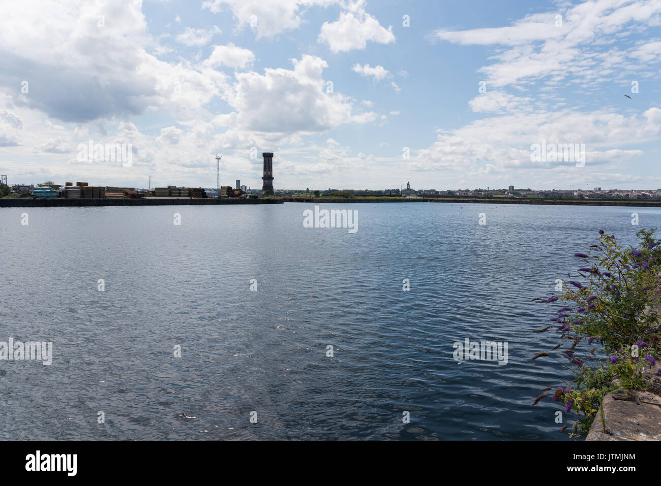 Bramley Moore Dock, Liverpool. Location of new Everton FC stadium which will be moving from their Goodison Park Stock Photo