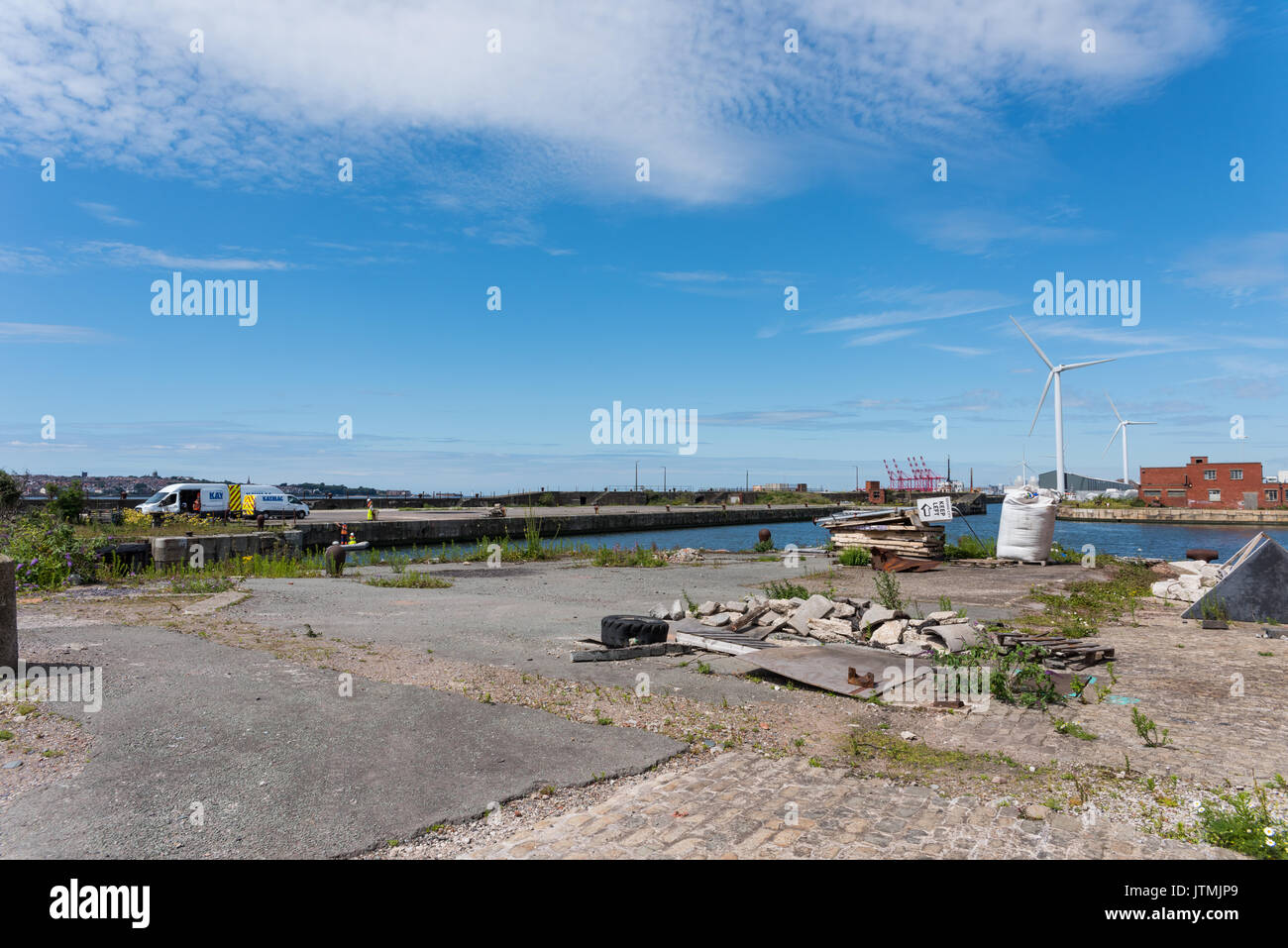 Bramley Moore Dock, Liverpool. Location of new Everton FC stadium which will be moving from their Goodison Park location - Stock Image