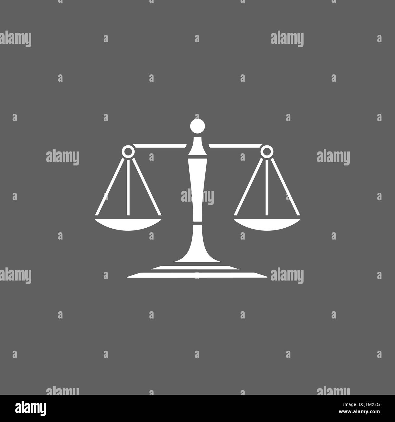 Scales of justice icon on a dark background - Stock Vector