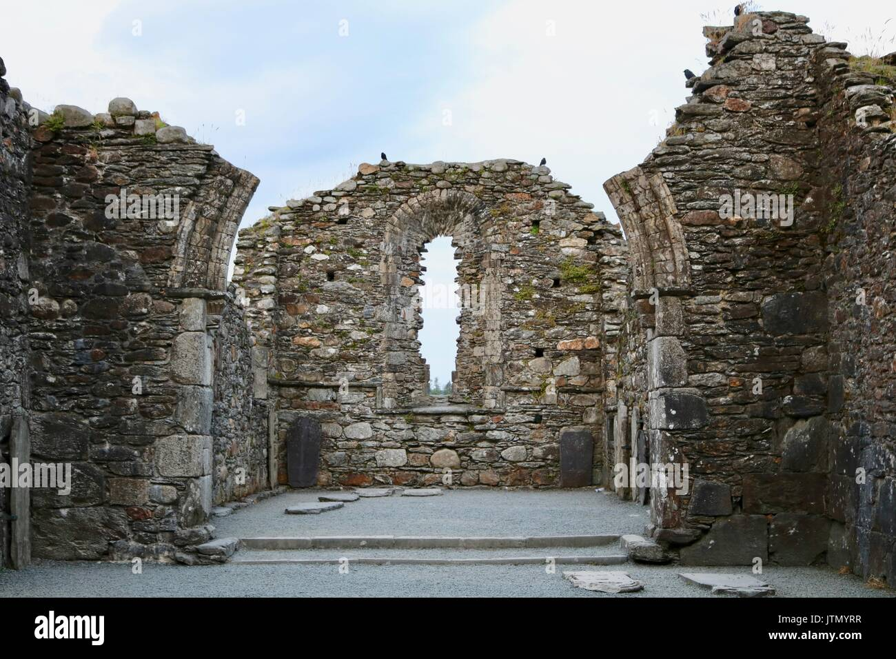 Ancient Ruins of Monastic Church - Stock Image