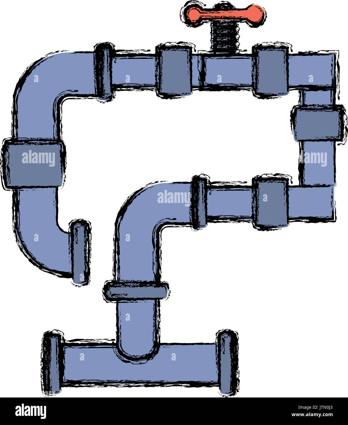 Pipe Connector Cut Out Stock Images Pictures Alamy Piping Diagram Symbols Union Plumbing Symbol Image