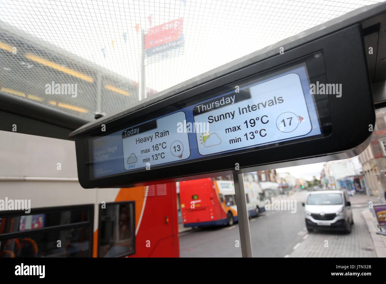 Bus Stop In Bognor Regis West Sussex UK