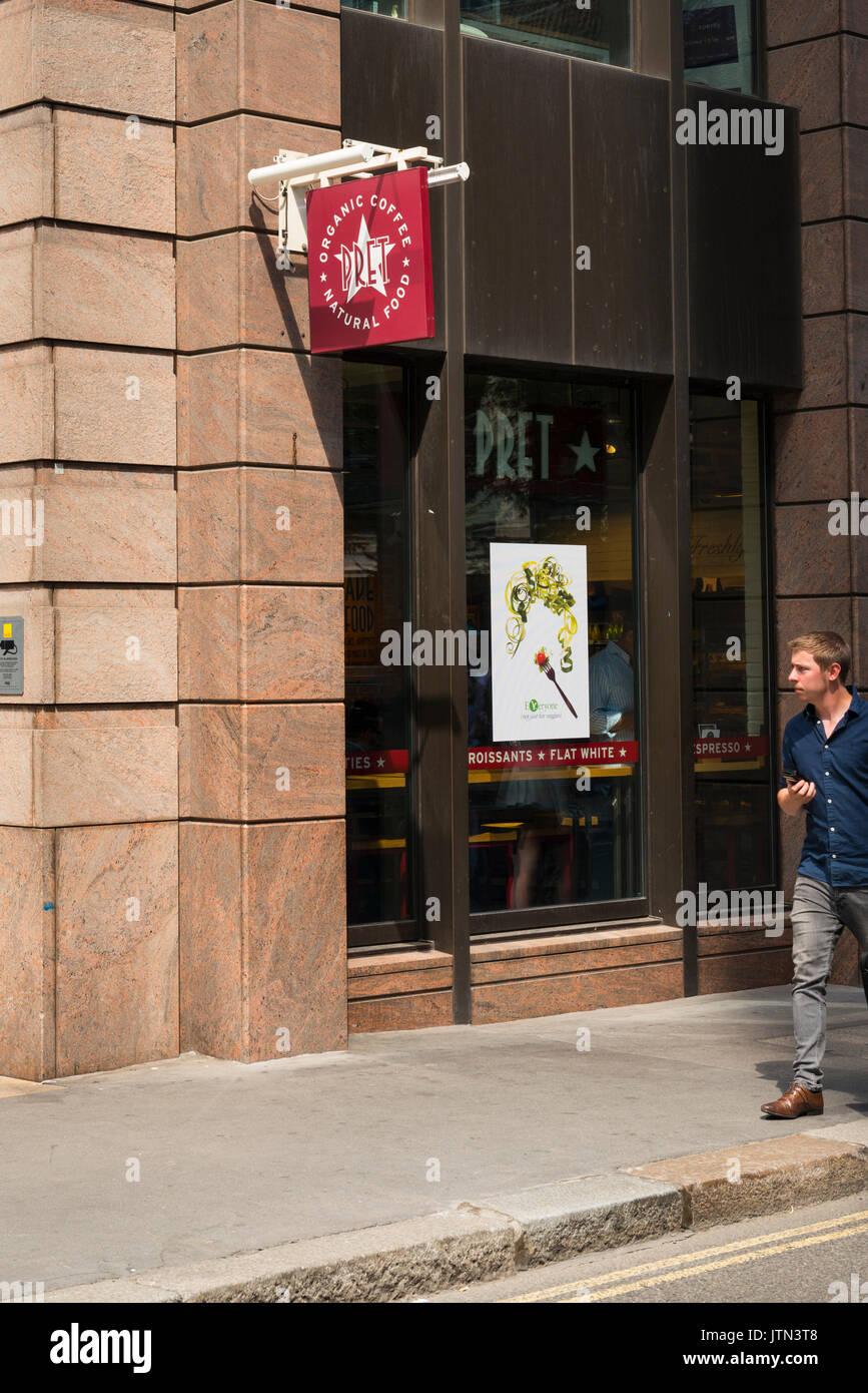 Uk London City Pret A Manger Fast Food Outlet Healthy Salad