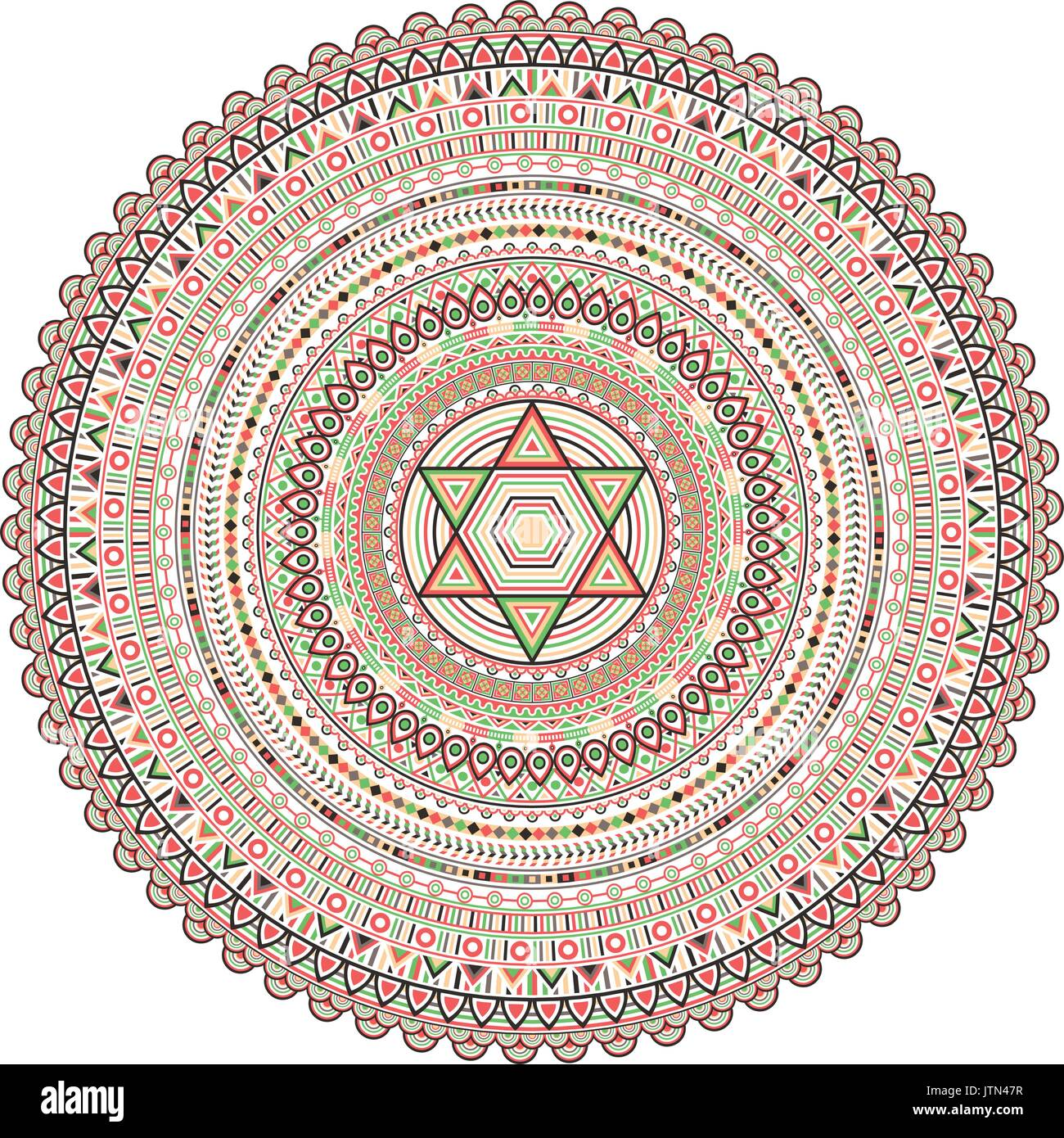 Geometrical Mandala. Vintage and traditional decorative elements. This  mandala was drew really detailed way