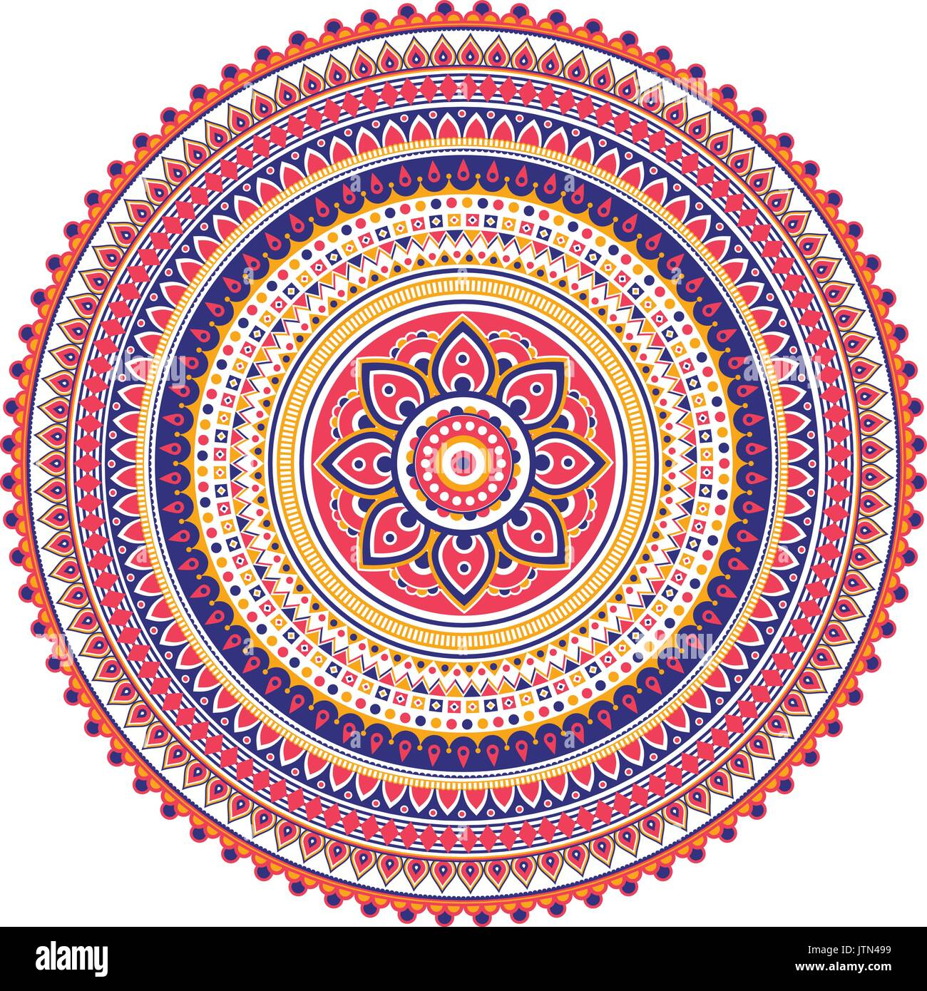 Geometrical Mandala. Vintage and traditional decorative elements. This mandala was drew really detailed way. It could be use for every kind of design - Stock Vector