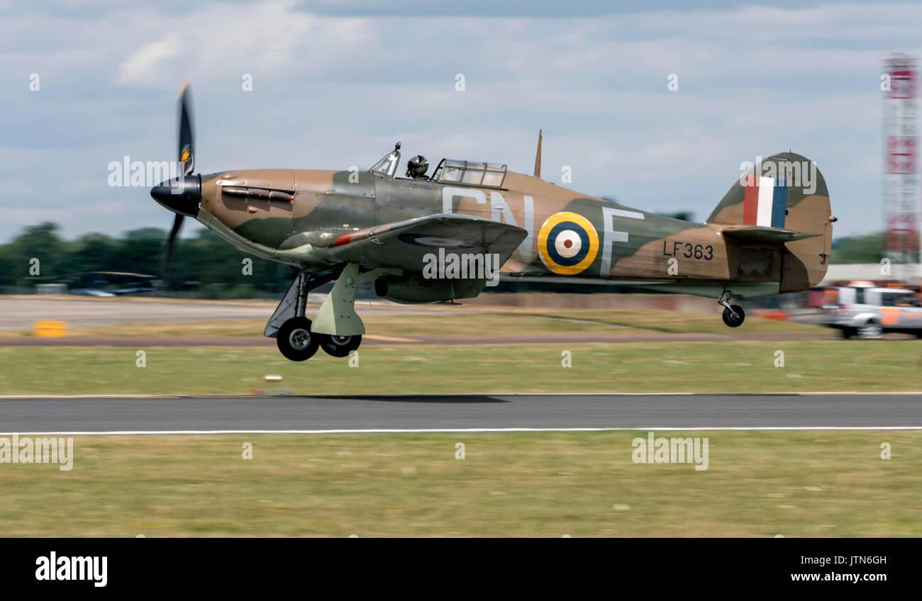 BBMF Hurricane Mk IIc, LF363 - Stock Image