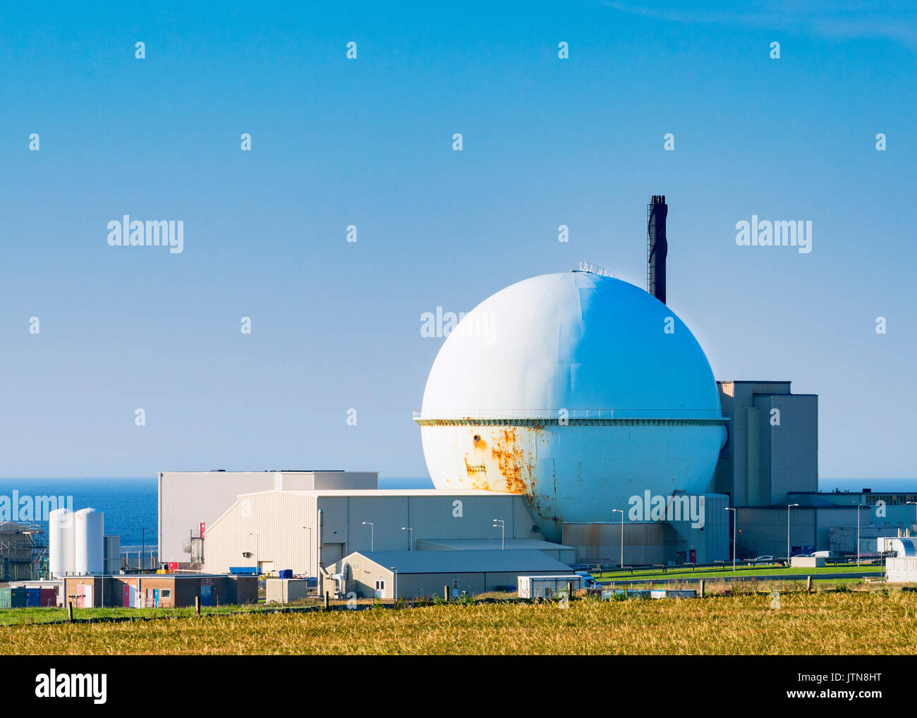 View of Dounreay nuclear power station in northern Scotland, now being decommissioned. - Stock Image