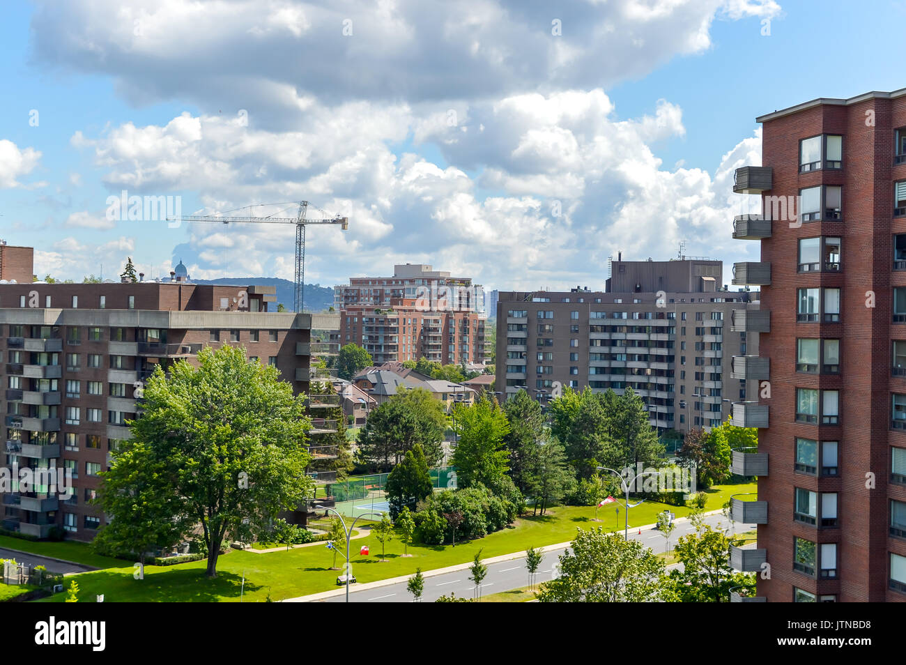 The construction of expensive Condo buildings in Montreal (Cote Saint-Luc), Canada Stock Photo