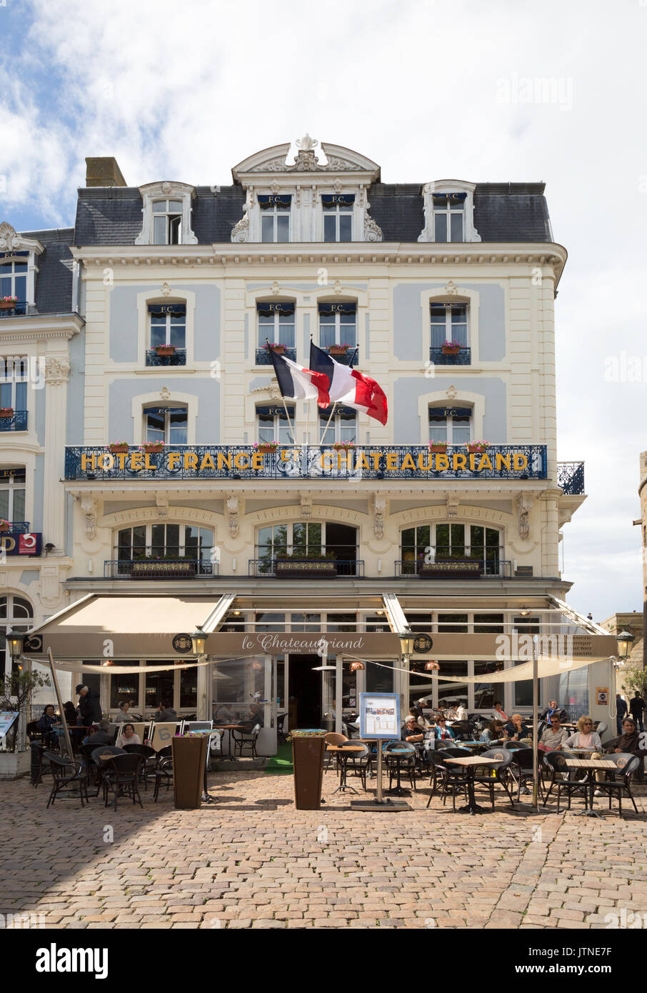 Hotel France et Chateaubriand, St. Malo Old Town ( Walled Town ), Brittany France - Stock Image