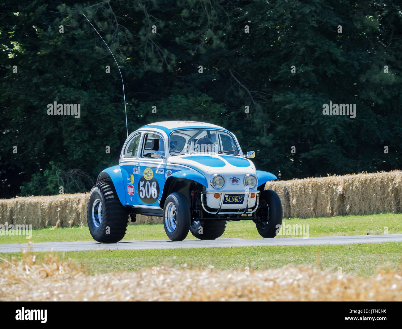 Baja Bug VW Beetle ( Tamiya Sand Scorcher model toy full size repro) at Goodwood festival of speed 2017 - Stock Image