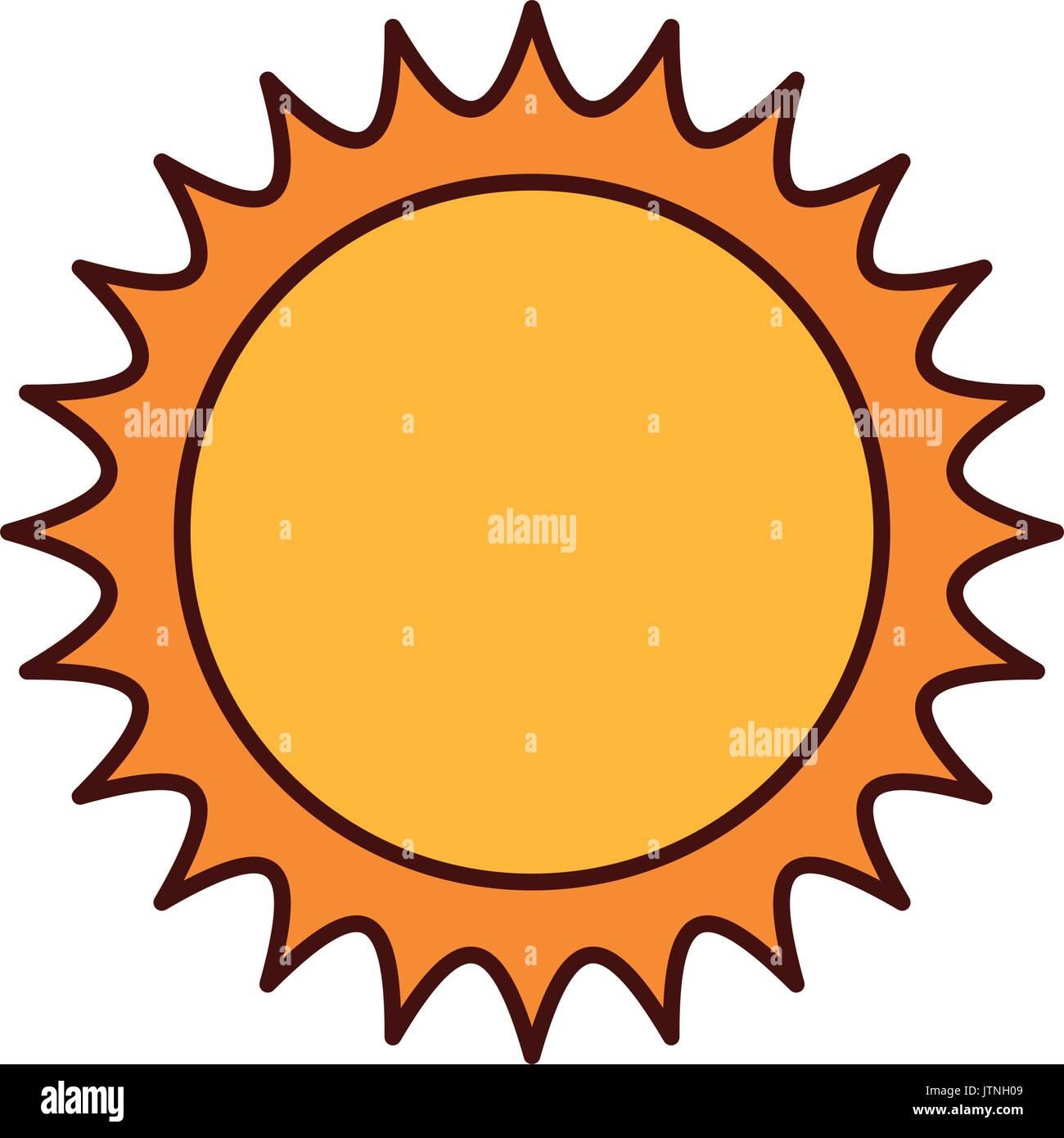 cute sun isolated icon - Stock Vector