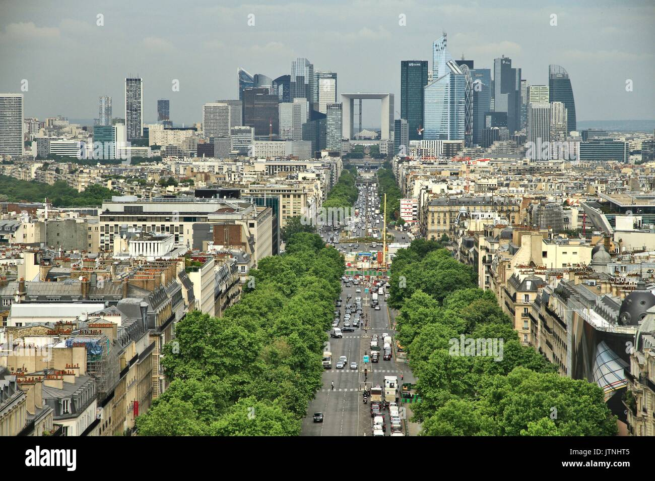 Illustration of the business district La Defense, the first European business district by the extent of its office park. Immovable, apartments - Stock Image