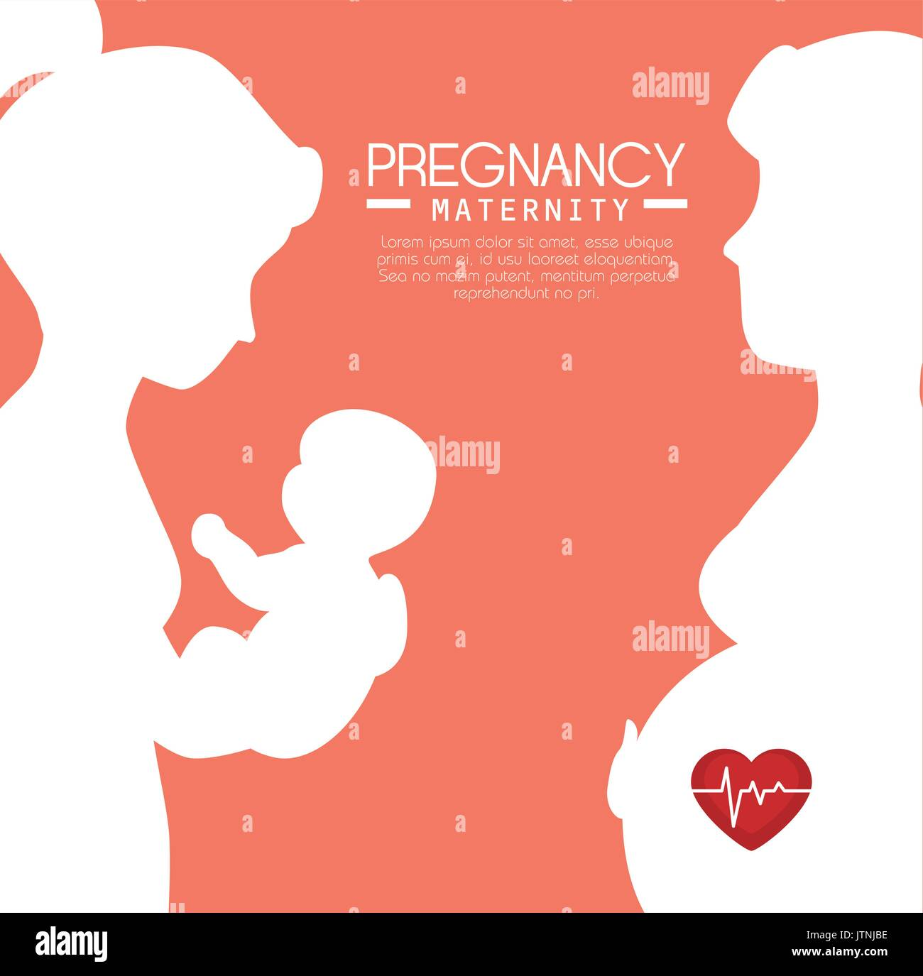 pregnancy and maternity infograhic - Stock Image