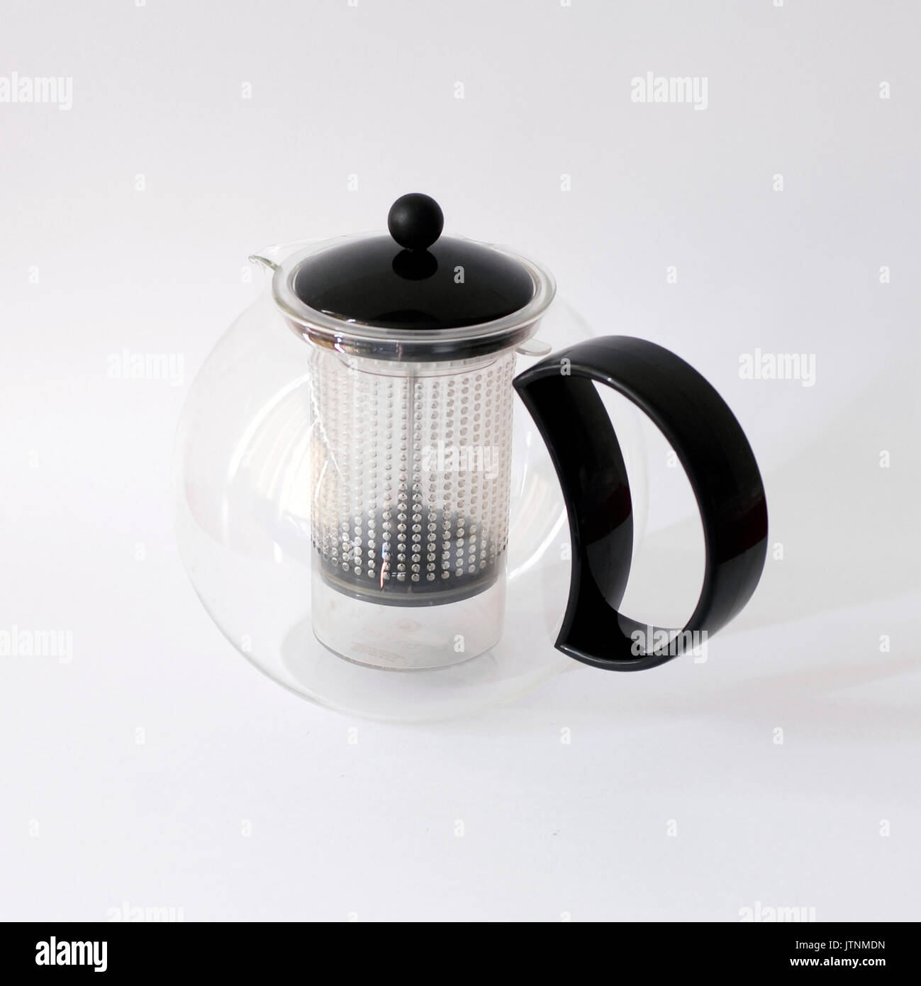 Vintage teapot designed by Jorgensen for BODUM, Made in Switzerland - Stock Image