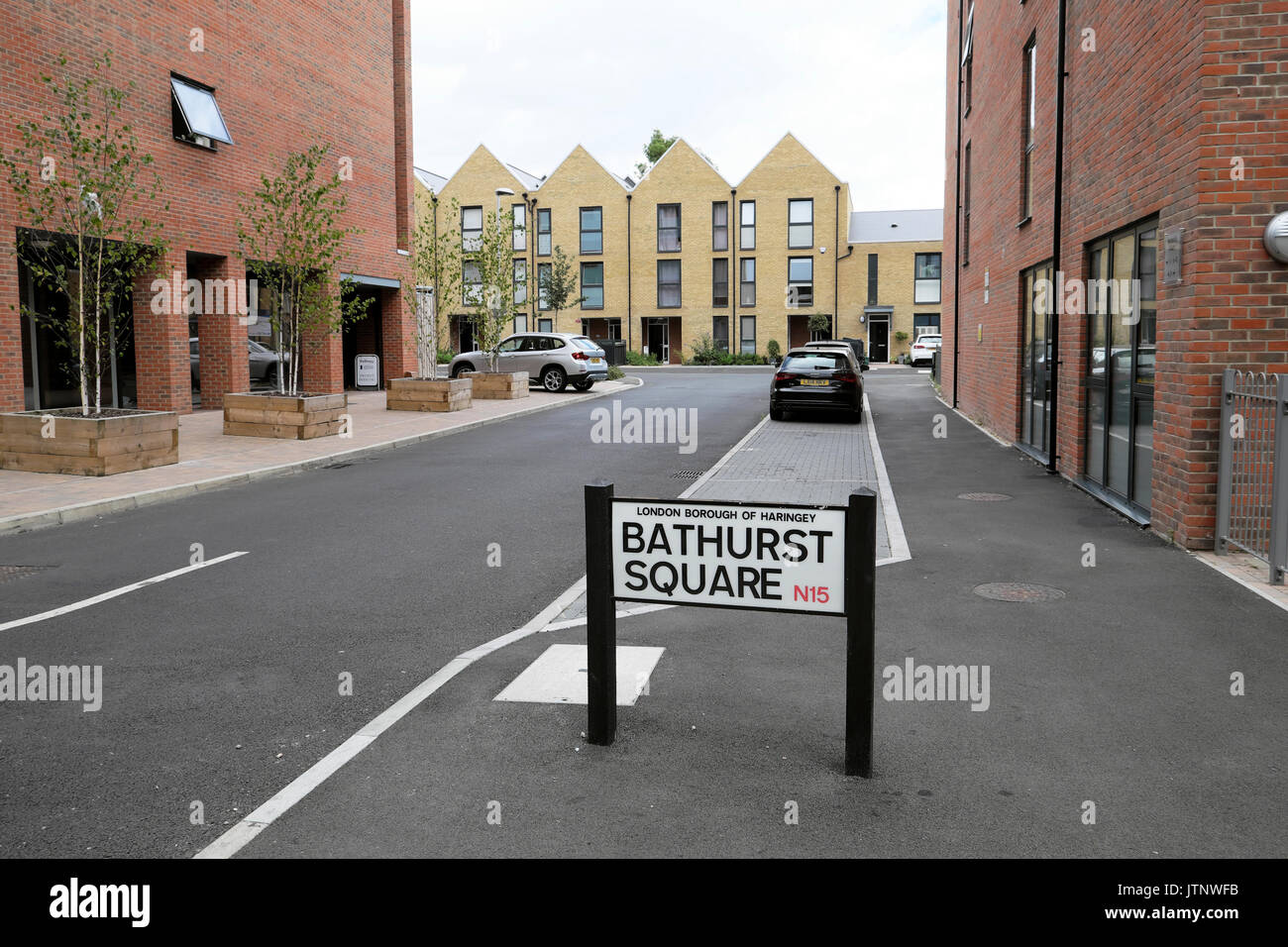 New build homes apartment buildings flats on Lawrence Road in the West Green Road area of Haringey Tottenham North London N15  UK  KATHY DEWITT - Stock Image