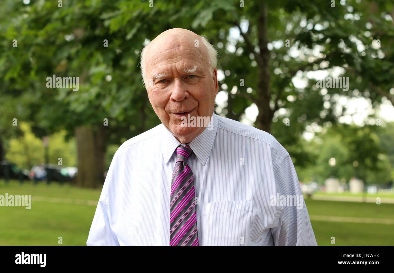 U.S. Senator Patrick Leahy of Vermont during a Democratic event on healthcare outside the U.S. Capitol July 12, Stock Photo