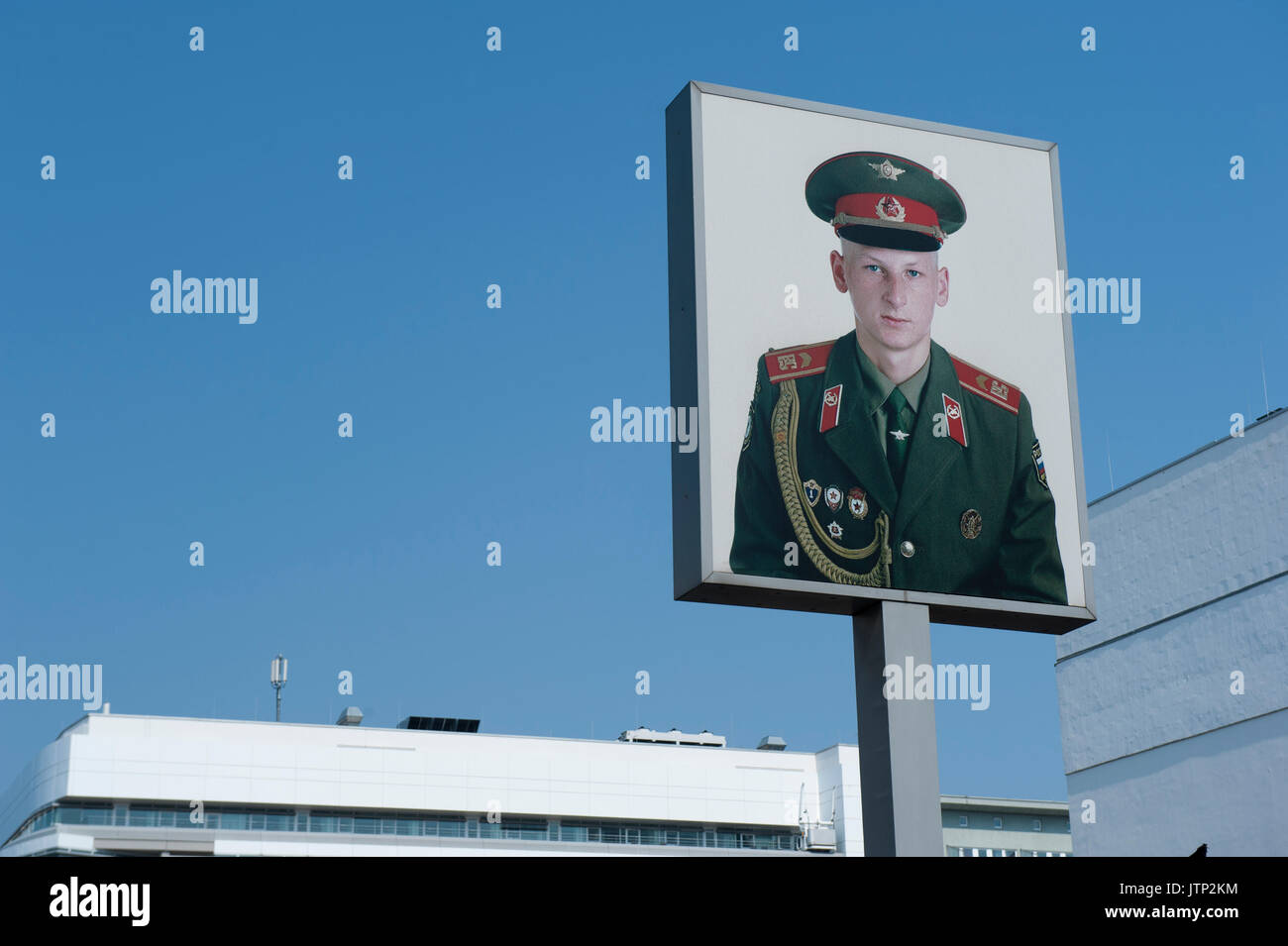 Checkpoint Charlie, Friedrichstadt , Berlin, Germany - Stock Image