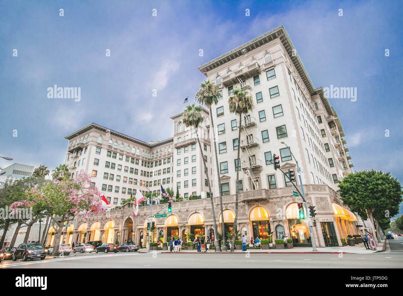 Beverly Wilshire Hotel - Stock Image