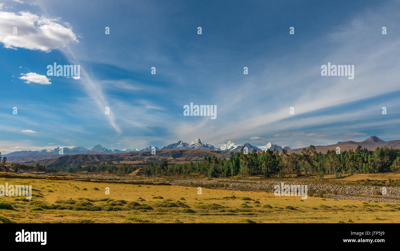 view of the andean mountain range - Stock Image
