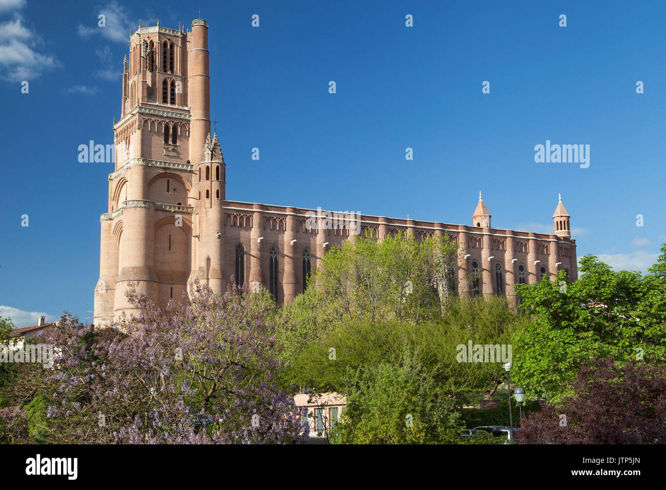 Cathedral of Albi in Occitanie, France. - Stock Image