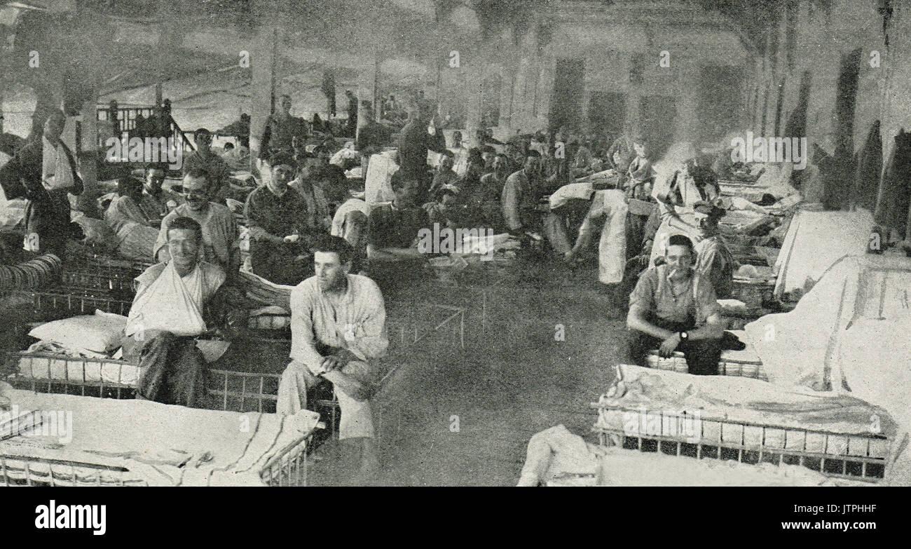 Luna park hospital in Cairo, Egypt, WW1 - Stock Image
